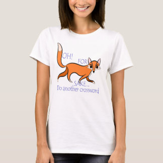 T-shirt Citation impertinente lumineuse de renard pour des