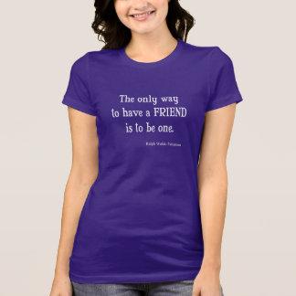 T-shirt Citation inspirée vintage d'amitié d'Emerson