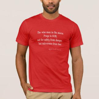 T-shirt Citation inspirée vintage de courage d'Emerson