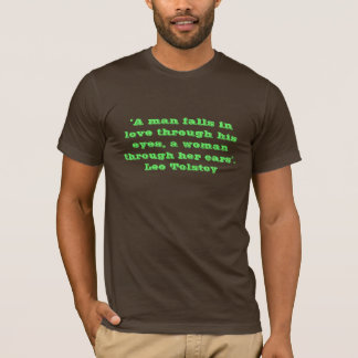 T-shirt Citation - Léon Tolstoï