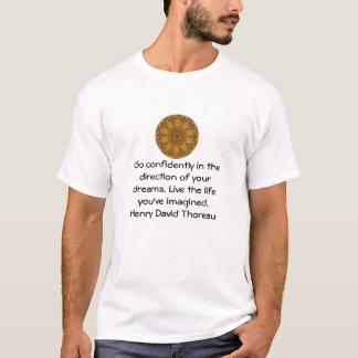 T-shirt Citation rêveuse de motivation de Henry David