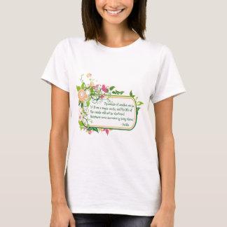 T-shirt Citation simple de bougie de Bouddha