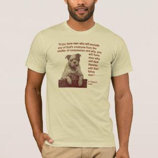 T-shirt Citation St Francis de droits des animaux de