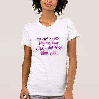 T-shirt Citation T de réalité de chat de Cheshire