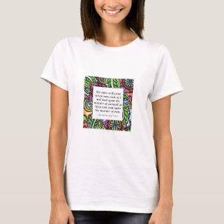 T-shirt Citation végétarienne de Leonardo da Vinci
