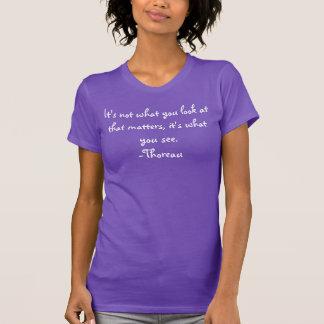 T-shirt Citations : Il n'est pas ce qui regardez vous