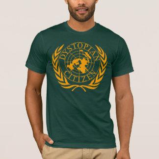 T-shirt Citoyen Dystopian - orange