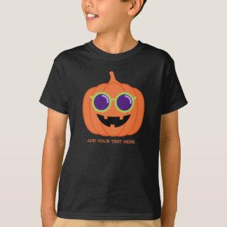 T-shirt Citrouille mignon de Halloween avec les verres