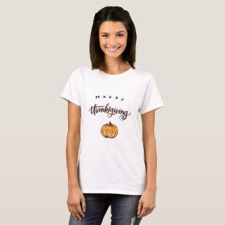 T-shirt Citrouille rustique de thanksgiving de
