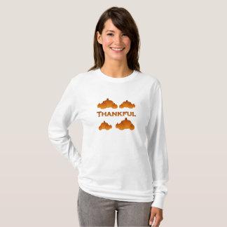 T-shirt Citrouilles reconnaissants d'automne