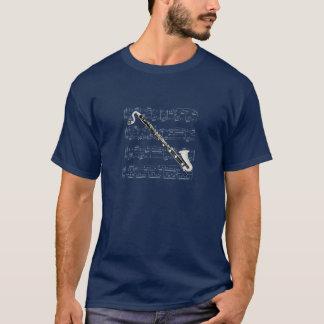 T-shirt Clarinette basse de chemise (foncée) - -