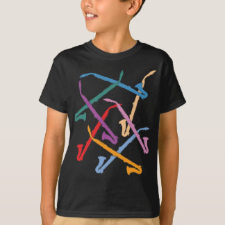 T-shirt Clarinettes colorées d'alto