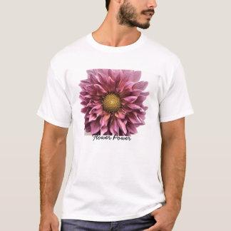 T-shirt Clarté de dahlia, flower power