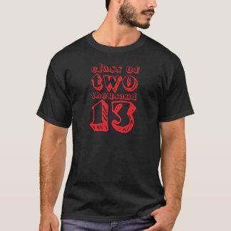 T-shirt Classe de deux mille 13 - rouge