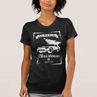 T-shirt classique d'arbre de Noël de voiture