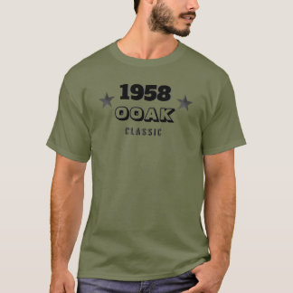 T-shirt Classique de 1958 OOAK ! Un d'un soixantième