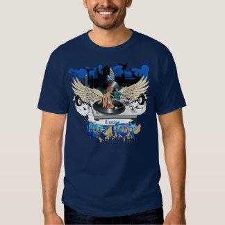 T-shirt classique de marine de hip hop
