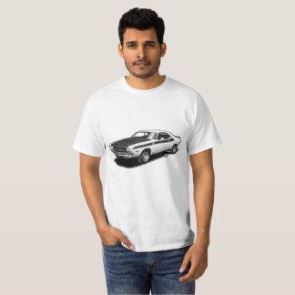 T-shirt classique de voiture de challengeur blanc