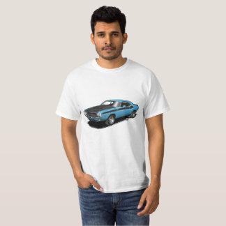 T-shirt classique de voiture de challengeur bleu