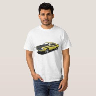T-shirt classique de voiture de challengeur jaune