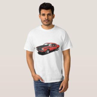 T-shirt classique de voiture de challengeur rouge