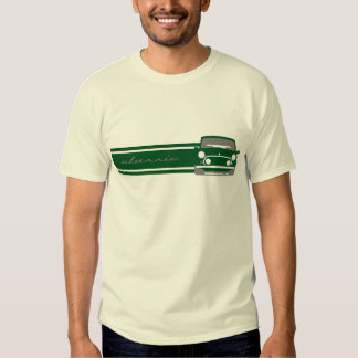 T-shirt classique vert de Mini Cooper