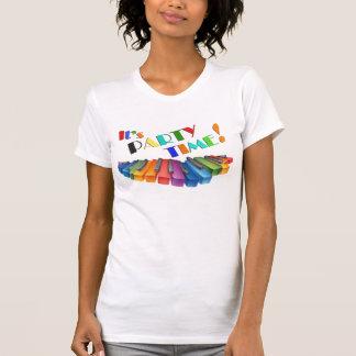 T-shirt Clavier coloré de temps de partie