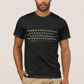 T-shirt Clavier de machine à écrire, type, texte