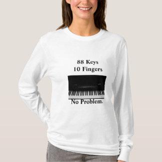 T-shirt Clavier de piano. Aucun problème