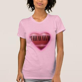 T-shirt Clavier de piano de coeur et d'étincelles