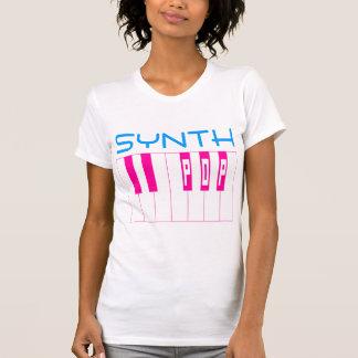 T-shirt Clavier vintage de bruit de Synth de style du