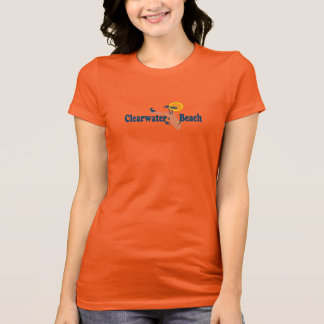 T-shirt Clearwater la Floride - conception de carte