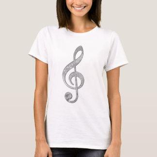 T-shirt Clef triple d'effets brillants argentés frais de