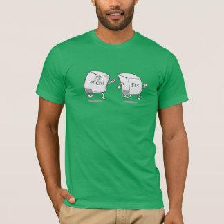 T-shirt Clés drôles de Ctrl-esc