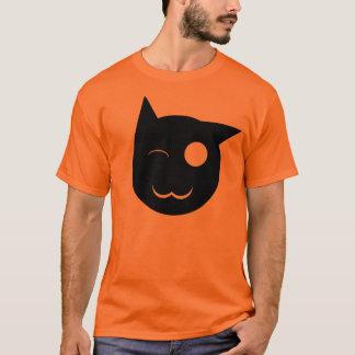 T-shirt Cligner de l'oeil la chemise de chat noir