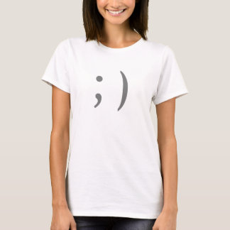 T-shirt Cligner de l'oeil le smiley d'Internet