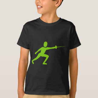 T-shirt Clôturant la figure - vert de Martien