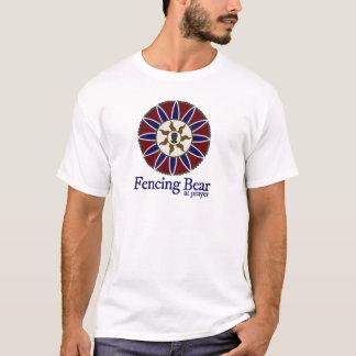T-shirt Clôturant l'ours au logo de mandala de prière
