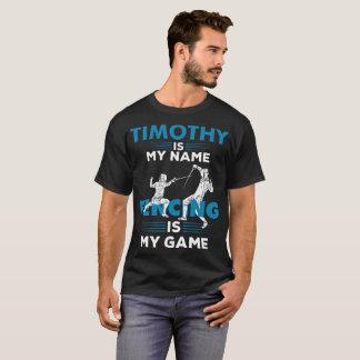 T-shirt Clôture du cadeau nommé d'habillement de chemise