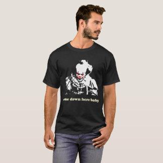 T-shirt Clown effrayant - descendu ici le bébé - Halloween