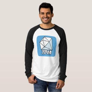 T-shirt Club de fan de toile d'hommes long pour le diamant