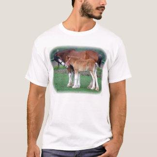 T-shirt Clydesdale et colt
