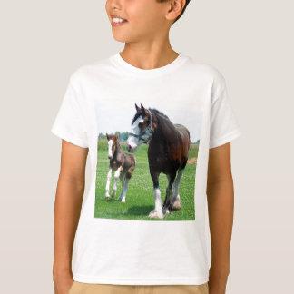 T-shirt Clydesdale et pouliche