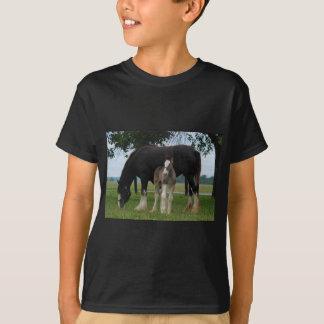 T-shirt Clydesdale noir et pouliche