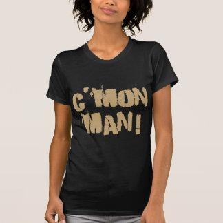 T-shirt C'mon homme ! Vieil or