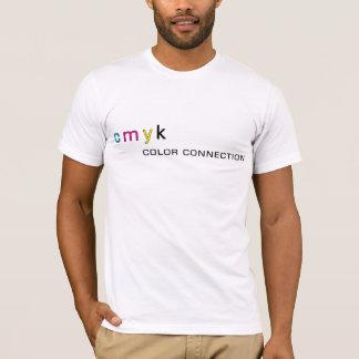 T-shirt CMYK la connexion de couleur