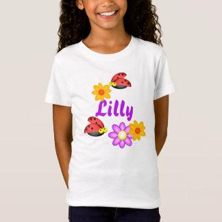 T-Shirt Coccinelle et fleurs