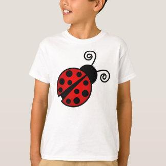 T-shirt Coccinelle mignonne - rouge et noir
