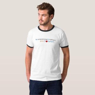 T-shirt Codage de python d'amour - amant de python