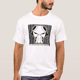 T-shirt Code barres de binaire de Dnb
